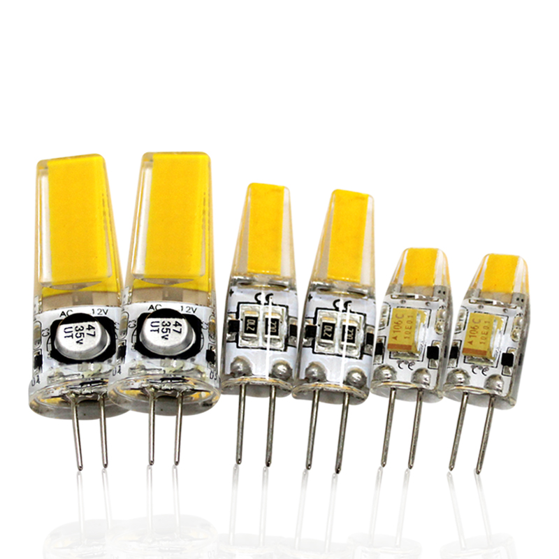 10pcs 3W 6W 9w G4 LED Lamp 12v AC/DC Mini COB LED Bulb Lights Warm White Candles Crystal Chandeliers
