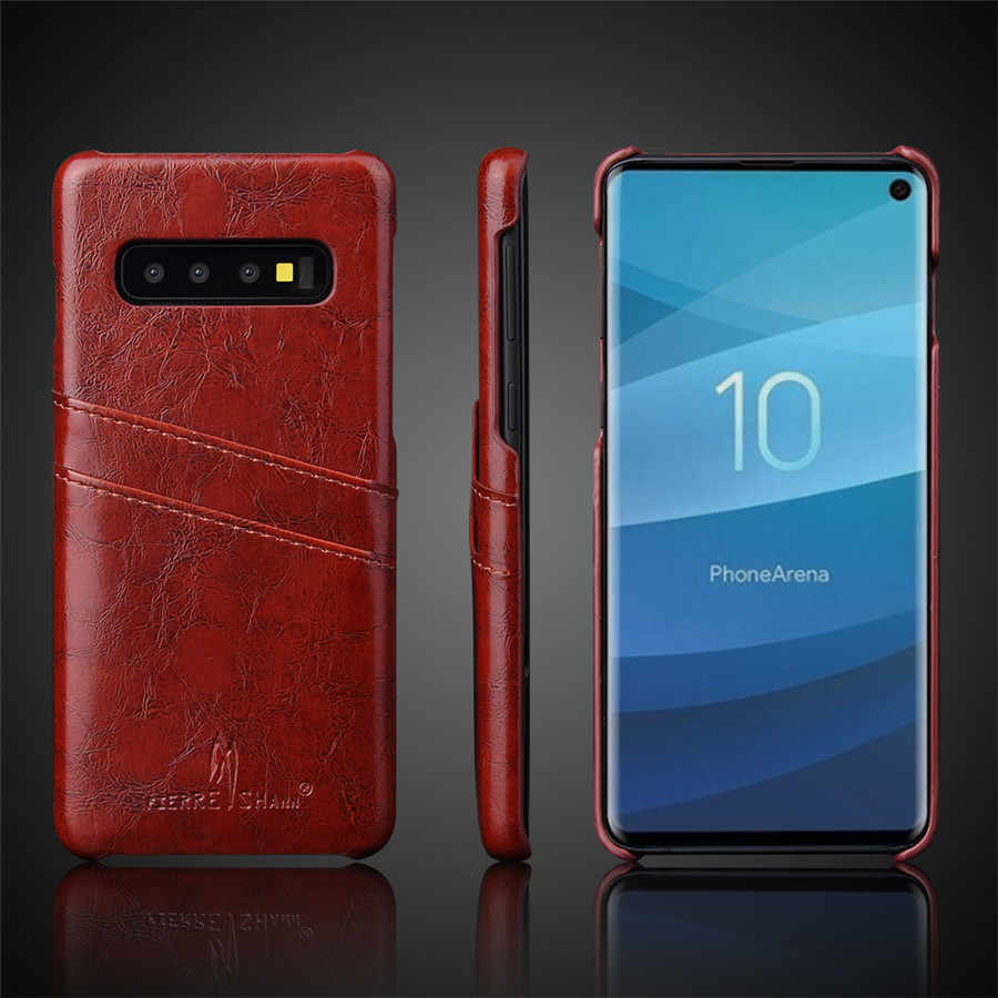 Genuine Real Leather Case For Samsung Galaxy S10 Plus S10e  S9 S8 Note 10 Pro 8 Note 9 Retro Vintage Back Protective Cover Case