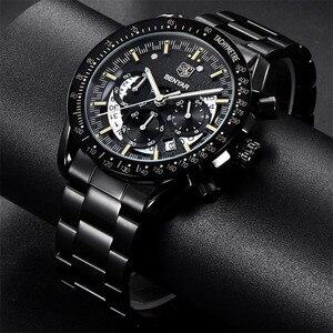 Image 3 - BENYAR אופנה ספורט שעון גברים למעלה מותג יוקרה שחור זכר הכרונוגרף שעון צבאי עמיד למים נירוסטה שעוני יד 5120
