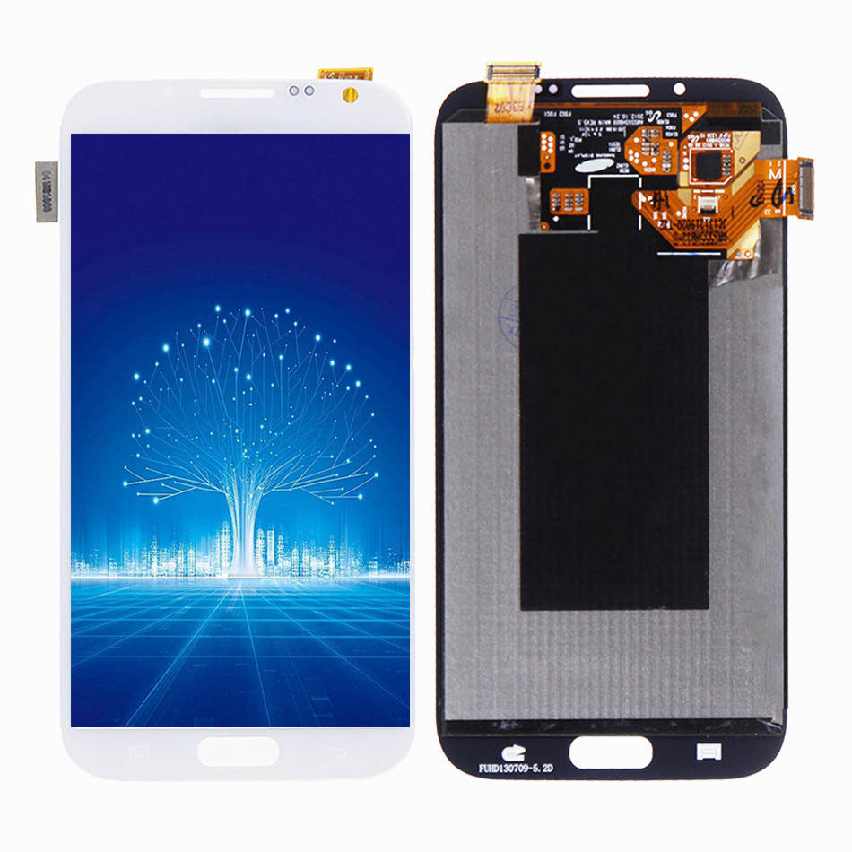 High Quality LCD For Samsung GALAXY Note 2 N7100 N7105 100% Tested LCD NoFrame Display with Touch Screen Digitizer Assembly Part image
