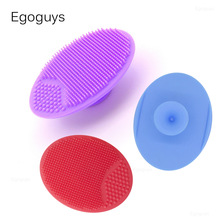 1PC Silicone Cleaning Brush Gel Washing Pad Exfoliating Blackhead Remover Facial Deep Cleansing Face Brushes Baby Bath Massager