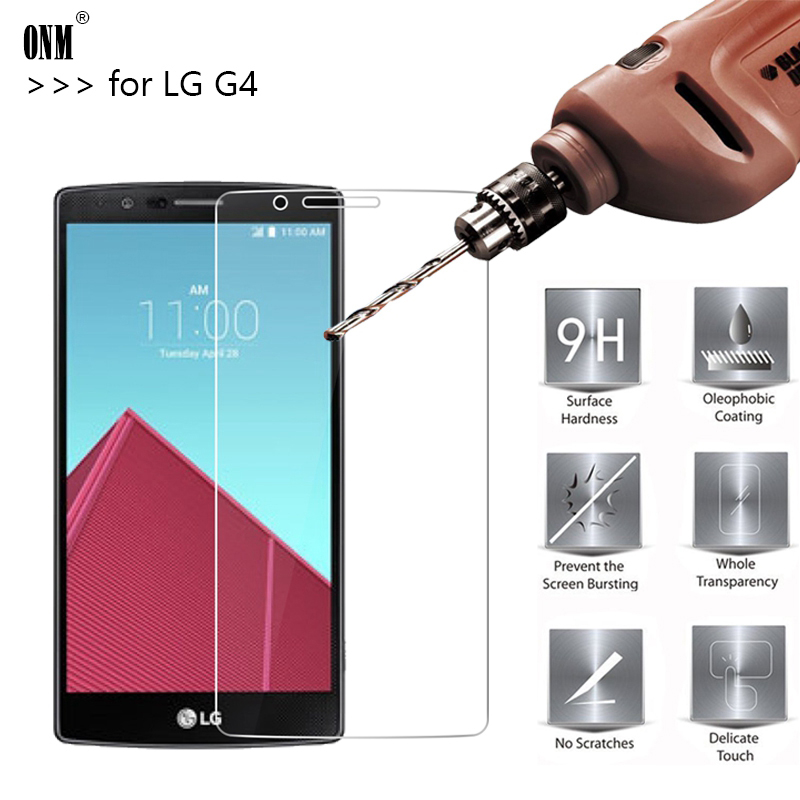 2.5D 0.26mm 9H Premium Tempered Glass For LG G4 H818 H815 H810 F500 VS999 Screen Protector Toughened protective film For LG G4 * image