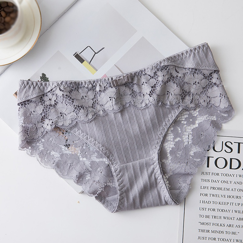 Details about  /Sexy low waist seamless Solid Color Lace Hollow out briefs Cotton Underwear