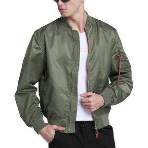 Image 5 - 2020 Water Resistant Ma1 Lightweight Green Tactical Military Varsity Flight Windbreaker Pilot Air Force Bomber Jacket for Men