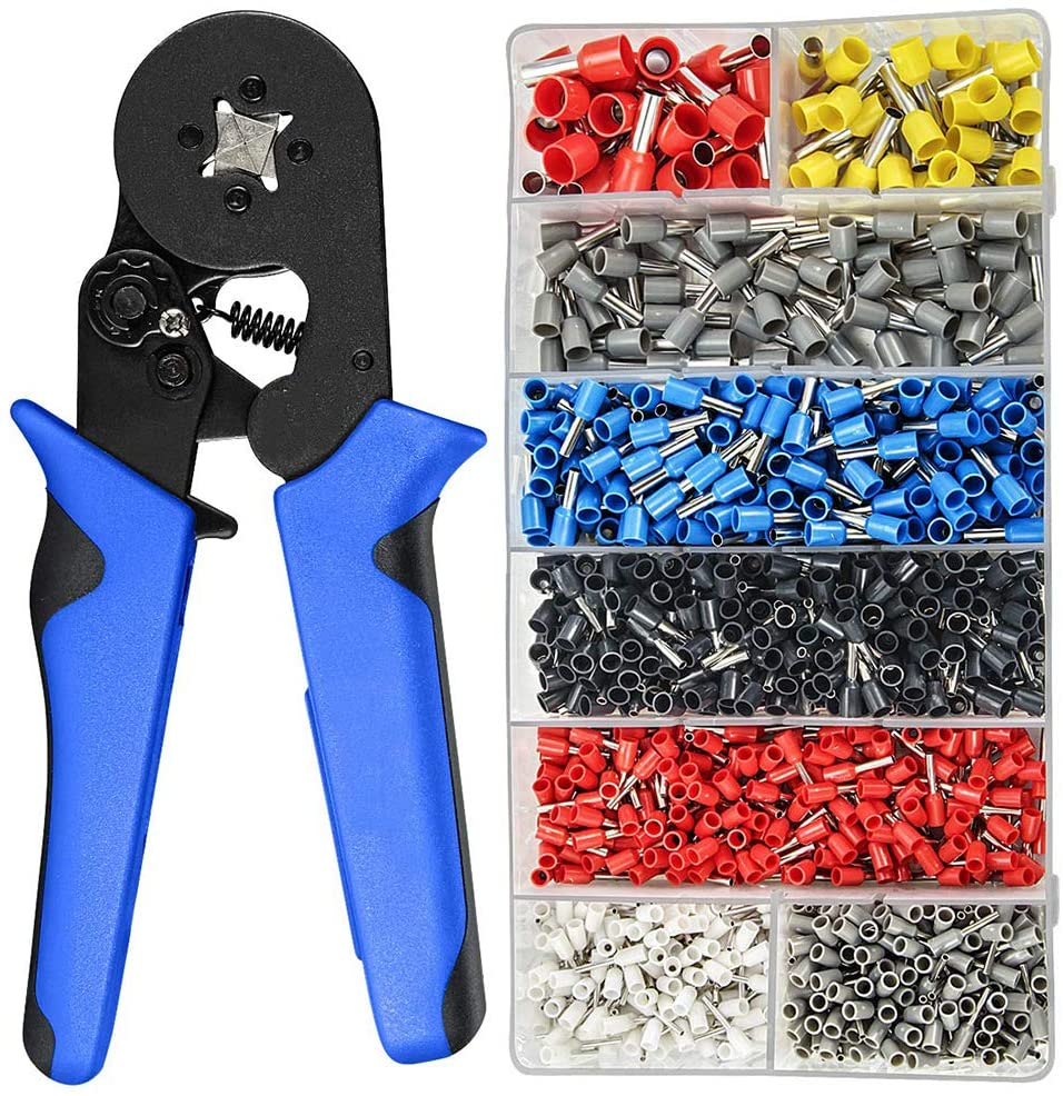 0.08-10mm Tubular Crimping Pliers Tools Set 1200pcs Terminal Crimping Tools Mini Electrical Pliers HSC8 Precision Clamp Set