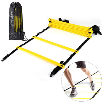 Training Ladders Agility Speed Ladder Stairs Nylon Straps Agility Soccer Football Soccer Football Speed Ladder Fitness Equipment 3m 6m agility speed jump ladder soccer agility outdoor training football fitness foot speed ladder agility speed jump training