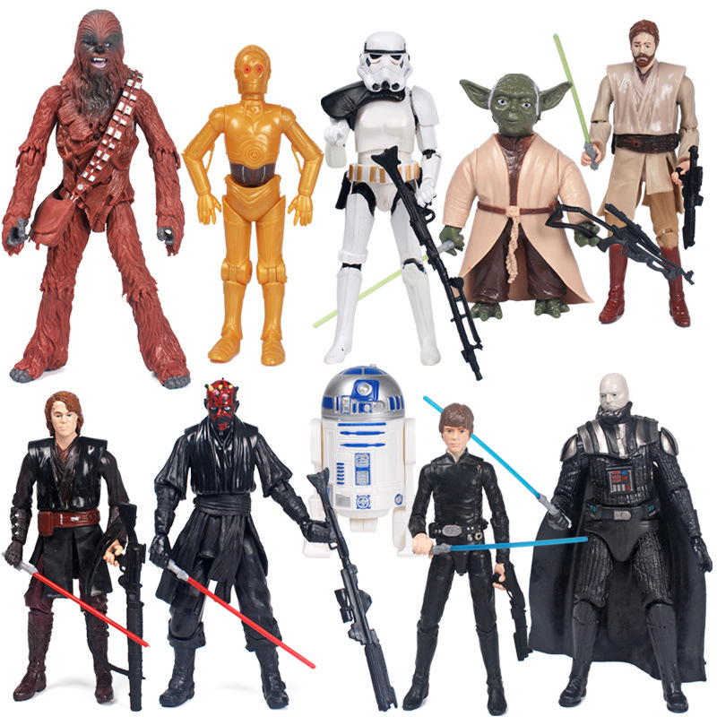 Hot 10pcs/set Star Wars Master Yoda Black Warrior PVC Action Figure Collectible Model Toys For Children Gift