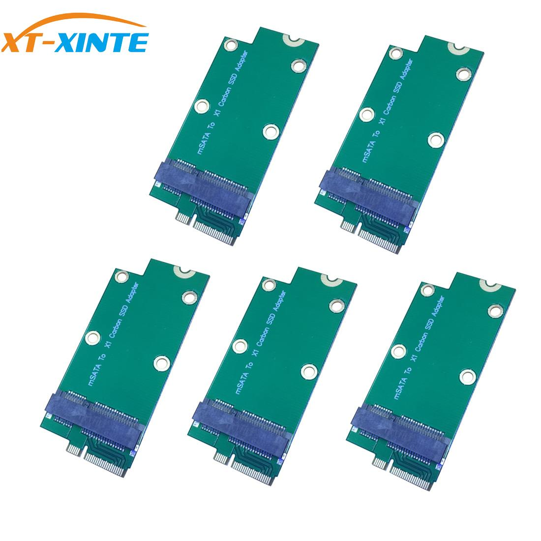XT-XINTE 5pcs Mini PCI-E MSATA SSD To Sandisk SD5SG2 Add On Card For Lenovo X1 Carbon For Ultrabook SSD Connector Expansion