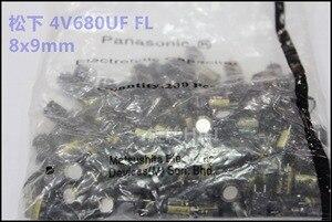 Image 2 - 50pcs nouveau Matsushita FL 680UF 4V 8X9MM 4V680UF carte mère CPU condensateur électrolytique 680 uF/4 V or 4v 680uf