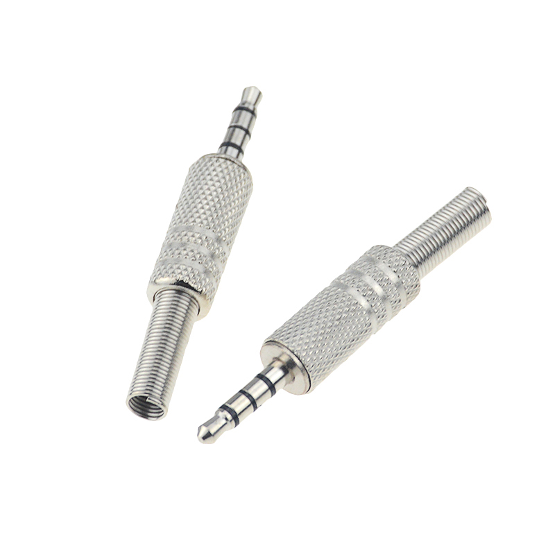 1pc Replacement 3.5mm 3 Pole Male Repair Headphones Audio Jack Plug Connector Soldering For Most Earphone Jack