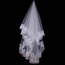 Hair-Accessories Wedding-Veil Lace-Edge Bridal-Viel Ivory Long One-Layer 120CM Events