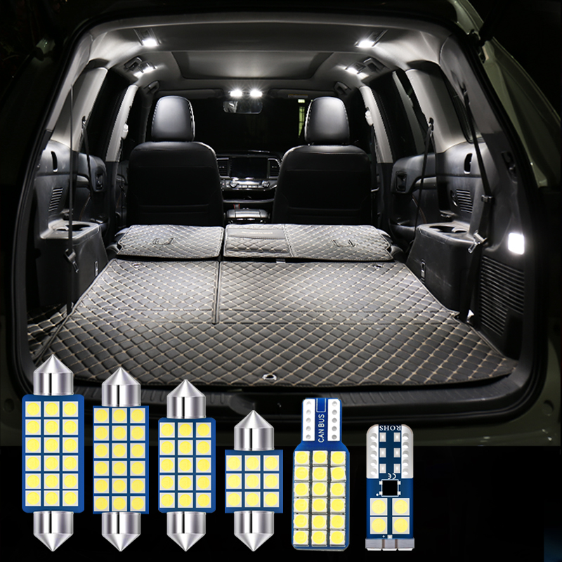 For MG 6 <font><b>MG6</b></font> 2017 2018 <font><b>2019</b></font> 6x Kit Error Free 12v LED Bulb Car Interior Dome Reading Light Vanity Mirror Trunk Lamp Accessories image