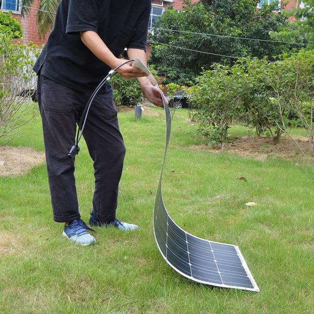 Dokio Flexible Solar Panel 100W Monocrystalline Solar Cell 200w 400w 600w 800W 1000W Solar Panel Kit For RV/Boat/Home system 2