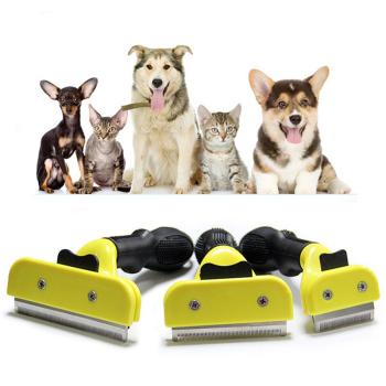 S M LYellow Pet Hair Brushes For Dog Cat Small Animal Grooming Comb Tickle Fur Cleaning Brush Hair Clipper Tools Furmines 1