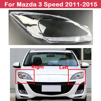 Headlight Lens Covers Styling For Mazda 3 Speed 2011-2015 Headlamps Cover Transparent Lampshades Lamp Shell Masks