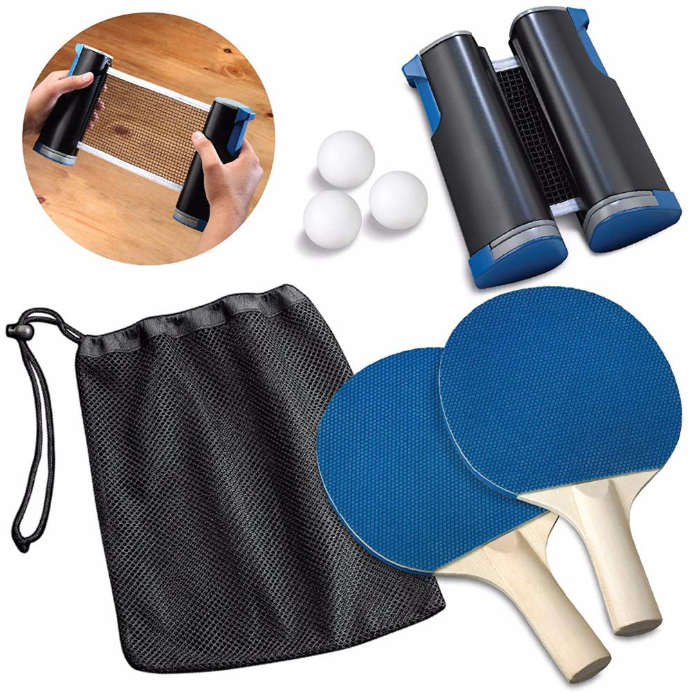 Portable Retractable Table Tennis Set 190CM Table Plastic Strong Mesh Net Kit Net Rack Replace Kit Ping Pong Rackets Playing 4