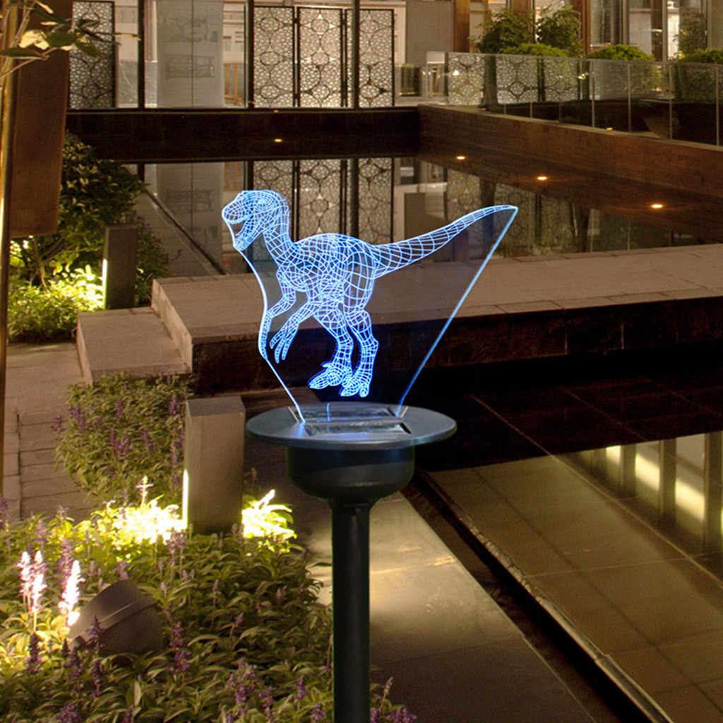 10 Led Solar Dinosaur Stake Light Lantern Solar Powered Pathway Lights Decorative Outdoor Lawn Yard Lamp For Garden Patio Led Lawn Lamps Aliexpress