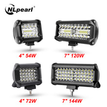 Nlpera 12V 24V LED Bar Offroad Spot Flood Combo LED Light Bar/Work Light per camion Car SUV 4WD 4x4 Boat ATV Barra fari a LED