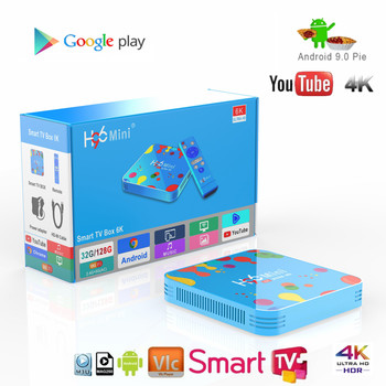 Newest H96 Mini H6 Android 9.0 Smart TV Box Allwinner H6 Quad Core 6K H.265 Wifi netflix Youtube H96mini Set top tv box smart tv set top box amlogic s905x2 h96max x2 tv boxes 4gb64gb 1080p h 265 android8 1 tv box support youtube netflix tv boxing