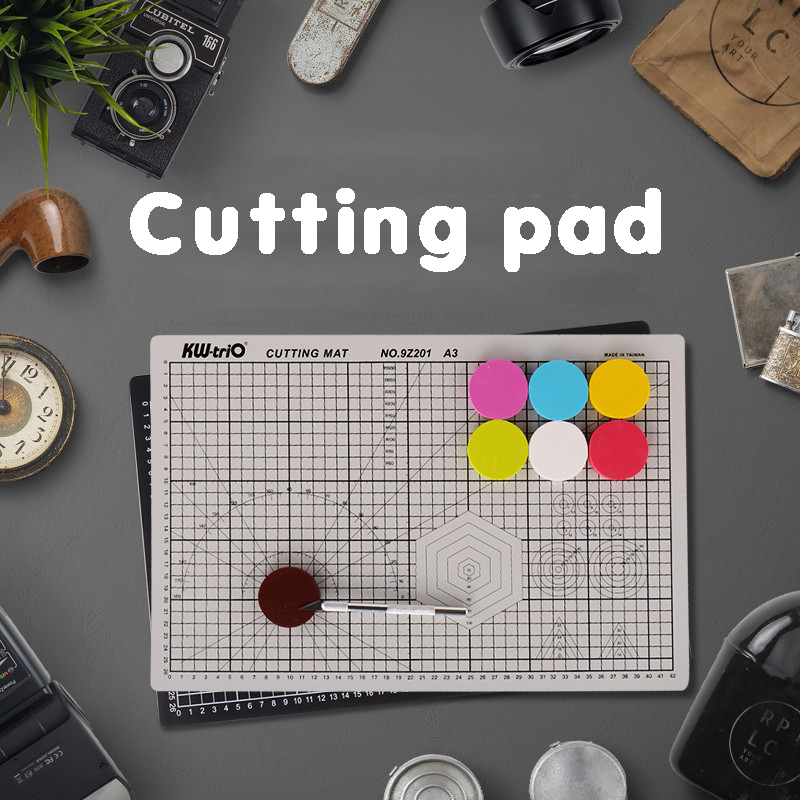 A4 A3 A2 Double-sided Cutting Board Cutting Pad Knife Board Extra Grid Pvc Cutting Pad Diy Manual Model Self-healing Cutting Pad