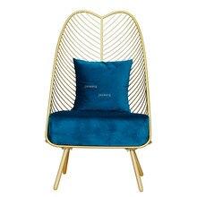 Chair Dining-Coffee Living-Room-Furniture Metal Modern Iron Bar Leisure Steel Customizable-Colors