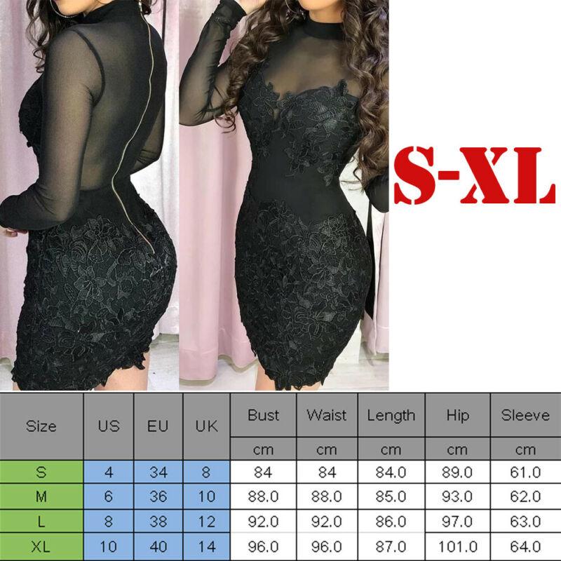UK New Women Bandage Bodycon Long Sleeve Evening Party Cocktail Club Mini Dress