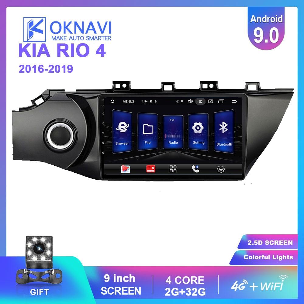 OKNAVI 4G LTE Android 9.0 IPS For KIA K2 Rio 4 2016-2019 k2 Car dvd Radio Multimedia Video Player GPS Navigation WIFI