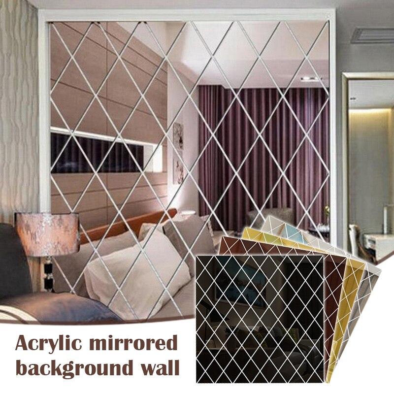 Diamante mosaico parede espelho acrílico adesivo de