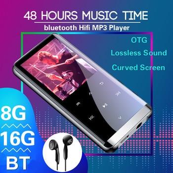 цена на 16GB bluetooth MP3 Player Earphones HiFi fm Radio mini USB mp3 Sports MP 4 HiFi Portable Music Players Voice Recording Recorder