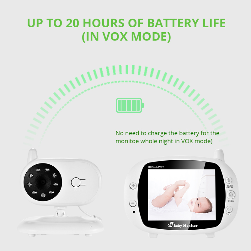 3 inch Baby Monitor With Security Night Vision Camera And a Voice Call For child Security 4