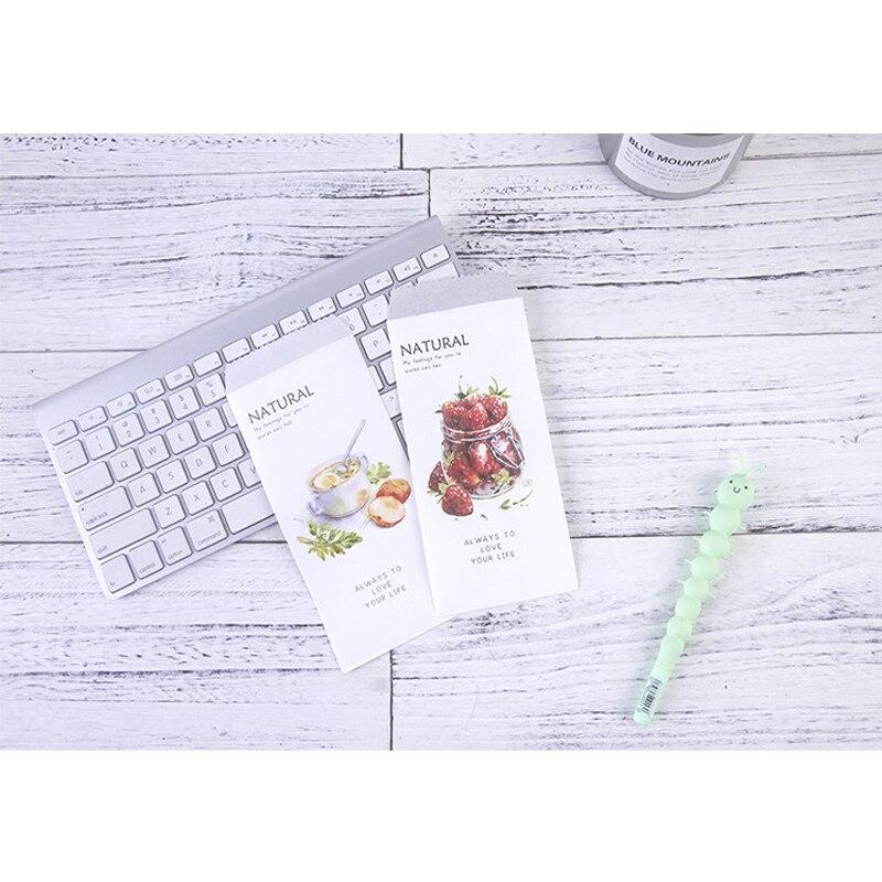 5Pcs/pack Romantic Natural Fruit Kraft Paper Envelope Children Craft Gift Stationery School Office Supplies