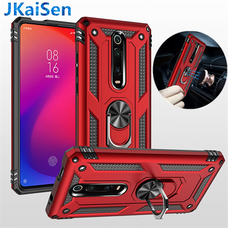 For Xiaomi 9E SE CC9 A3 Mi9T Mi 9T Mi9 CC K20 Pro Lite Shockproof Armor Magnetic <font><b>Ring</b></font> Holder <font><b>Case</b></font> for Redmi <font><b>Note</b></font> 8 7 Pro 8A 7A image