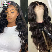 цена на Brazilian Body Wave Wig 150% Density Pre Plucked Remy Lace Front Wigs 13*6 Lace Front Human Hair Wig Bleached Knots Panda