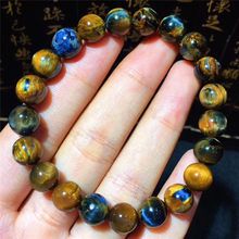 2019 New arrival 9mm Natural Pietersite Stone Yellow and Blue Color Bracelet for Men and Women's Bracelet High Quality(China)