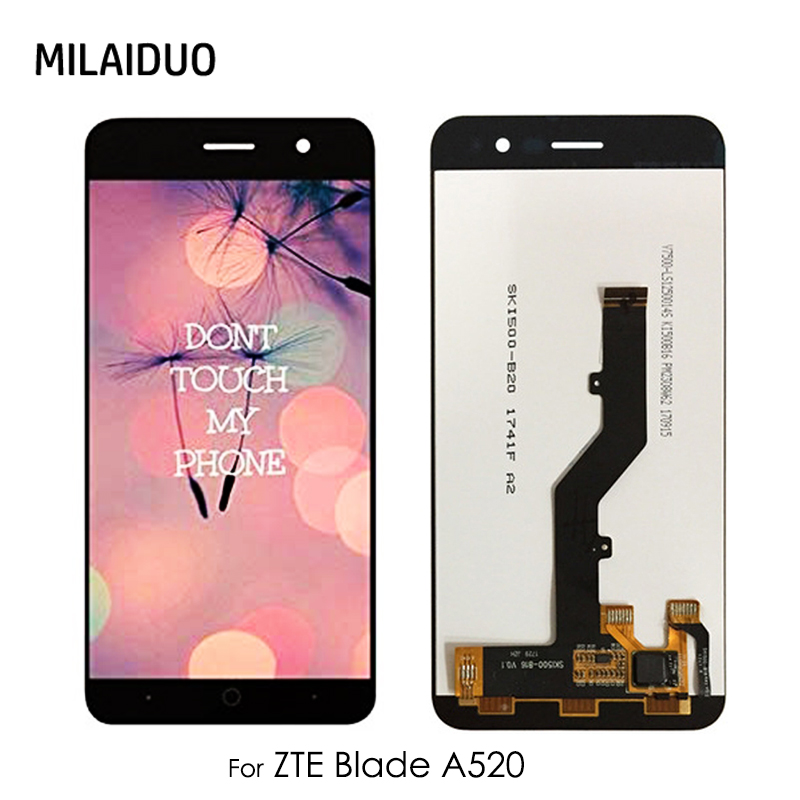 LCD For <font><b>ZTE</b></font> <font><b>Blade</b></font> <font><b>A520</b></font> LCD Display Touch <font><b>Screen</b></font> Digitizer Glass Panel For <font><b>ZTE</b></font> <font><b>A520</b></font> LCD Assembly Replacement Black No Frame image