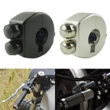 Motocicleta do vintage guiador montar interruptor cnc guiador interruptor de botão controle farol spotlight começar a matar para cafe racer bicicleta