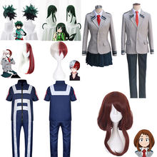 Uniforme escolar boku no hero academia, fantasia para cosplay de my hero academia, midoriya izuku, ochaco uraraka, yaoyorozu momo
