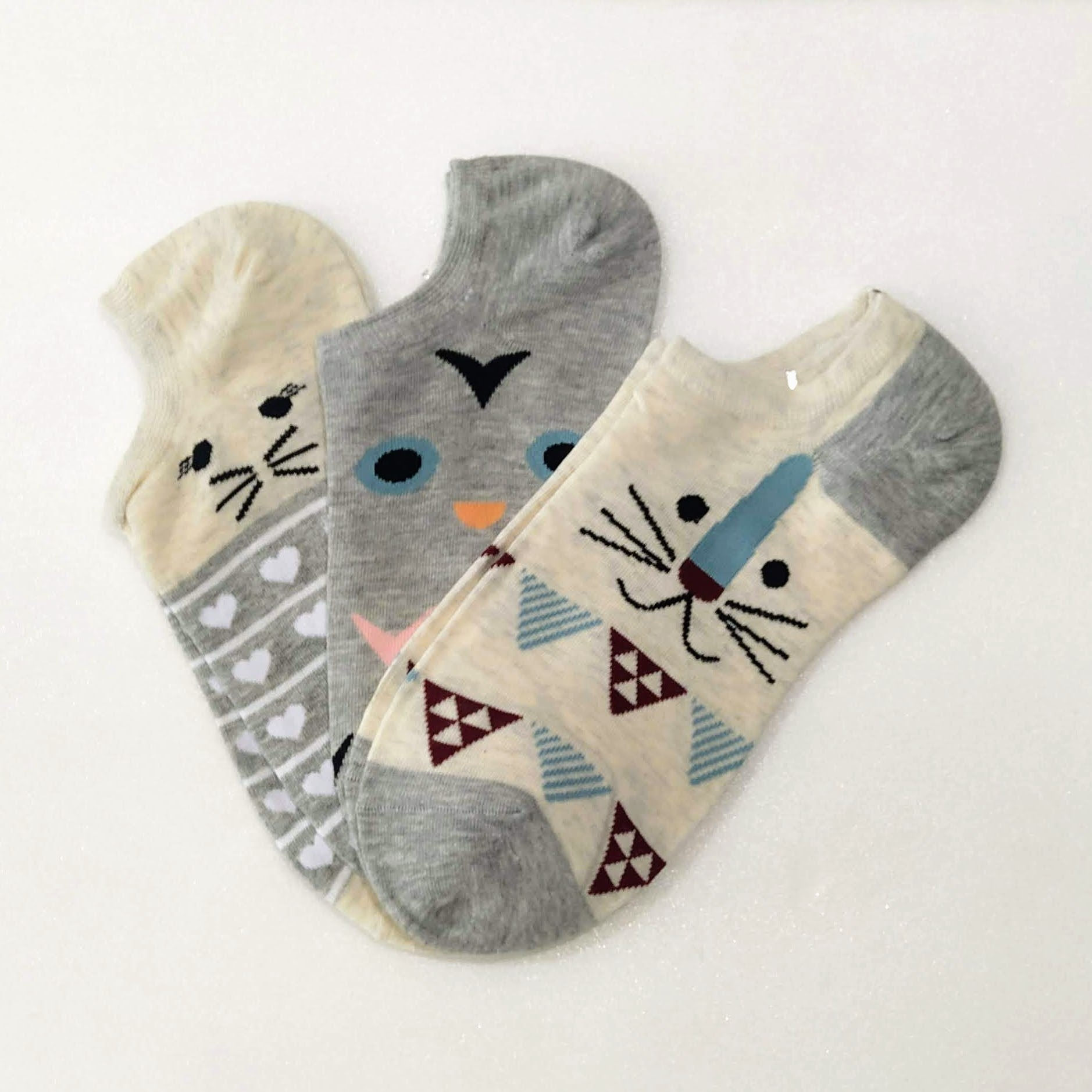 Socks Pack 3x Cats Colors Size 35-41 New Original Animals
