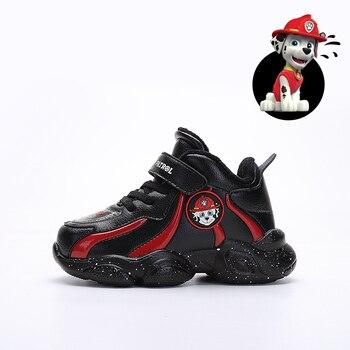 Детская повседневная обувь «Щенячий патруль»; детская спортивная обувь; зимняя теплая плюшевая обувь; Нескользящая дышащая обувь для мальч...