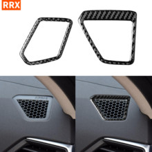 For BMW 3 Series G20 G28 2019-2020 325li 330d 335 Car Accessories Carbon Fiber Sticker Dashboard Air Outlet Vent Frame Cover(China)