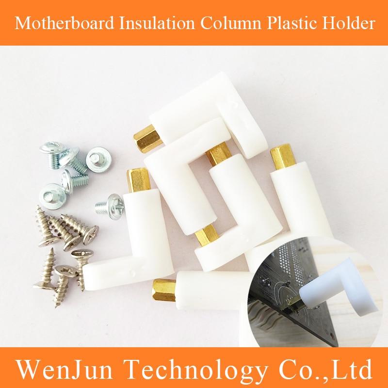 PCB Insulation Column For Motherboard Plastic Holder Pillar Fixed Tool 25MM With Screw 6pcs/Sets Screw + Plastic Pillar