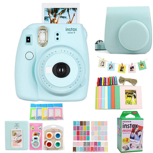 Original Fujifilm Fuji Instax Mini 9 Instant Film Photo Camera + 20 Sheets Fujifilm Instax Mini 8/9 Films