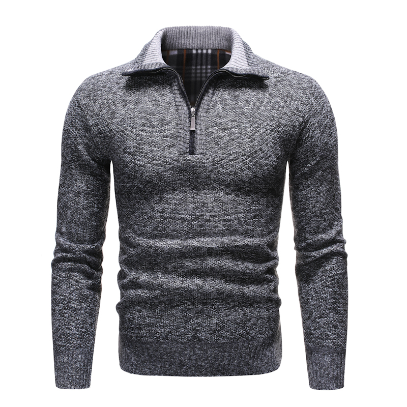 NEGIZBER 2019 New Autumn Winter Mens Sweater Solid Slim Fit Pullovers Men Sweaters Casual Thick Fleece Turtleneck Sweater Men