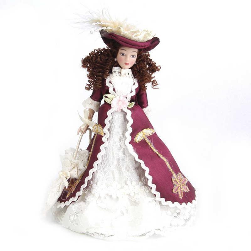 1:12 Miniature บ้านตุ๊กตาตุ๊กตา Senora clasica ที่มี Sombrero 1pz