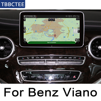 Car radio GPS multimedia For Mercedes Benz V Class Viano W446 2016 2017 2018 2019 NTG Android player Navigation Map 2 Din WiFi