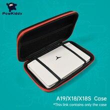 Powkiddy para x18 a19 portátil handheld retro saco de jogo para retro game console retroid dispositivo jogo multi função pacote jogo