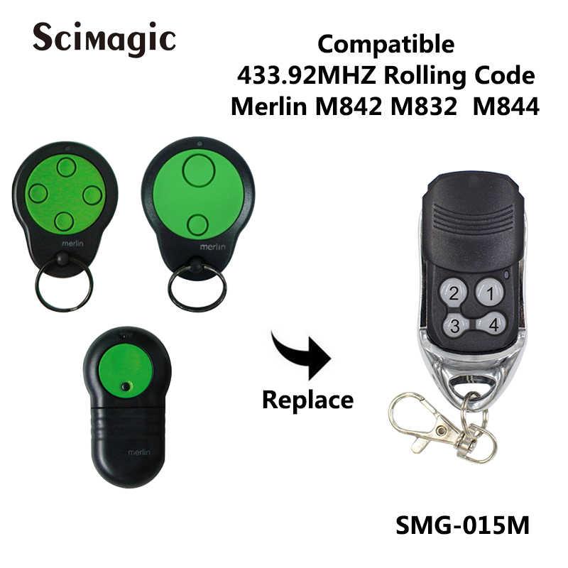 4 teclas Rolling Code Garagentor/öffner para Merlin M842 el/éctricas Jalousien Rolll/äden abridor de mando a distancia clave 1 unidad Tama/ño libre CVERY Garaje mando a distancia