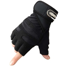 цена на Men Cycling Gloves Half Finger Bicycle Gloves for Bicycle Anti-Skid Soft Breathable Mittens Fitness Outdoor Sports Gloves Black