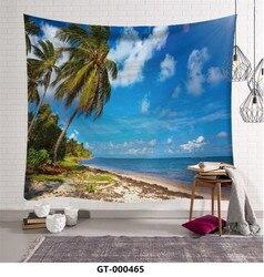 95x73cm nadmorska sceneria gobeliny wyposażenie domu tapeta w stylu boho ściany wiszące Sandy piknik na plaży dywan koc namiot kempingowy w Dekoracyjne gobeliny od Dom i ogród na