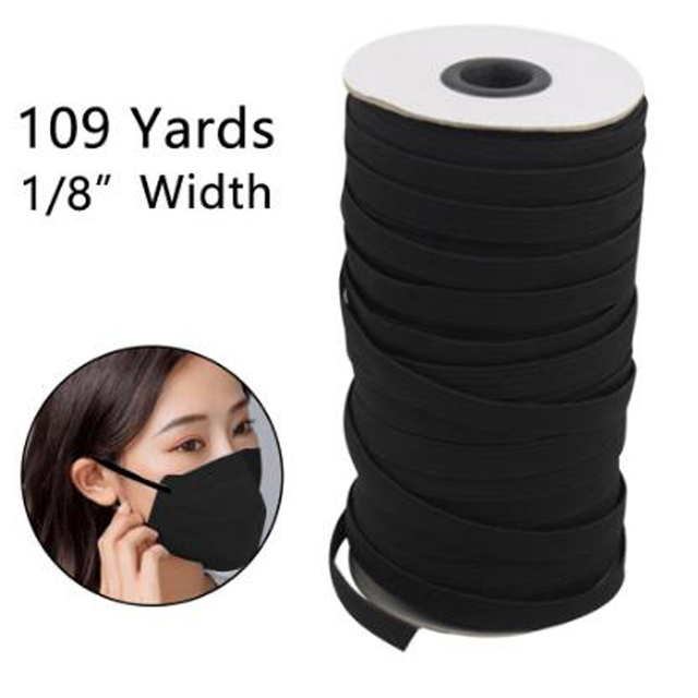 3UM Thin sewing elastic band wide high elastic flat rubber band Bands for Face Mask Elastic Cord for Crafts Elastic Rope